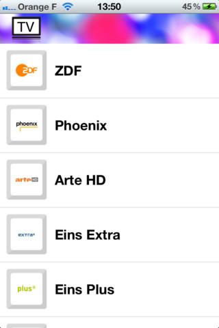 4 Fernsehen TV Apps für iPhone und iPad ( unz TV Kanal tv stream tten RTL iphone ipad Fernsehen AppStore Apps  )