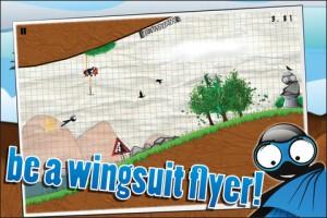 Wingsuit Stickman