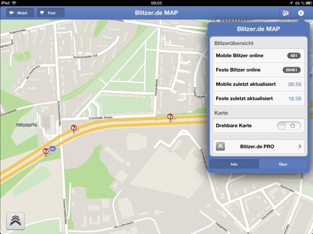 Mobile Blitzer Karte.Blitzer De Map Mobile Und Feste Blitzer Auf Dem Ipad