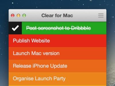 Clear Mac