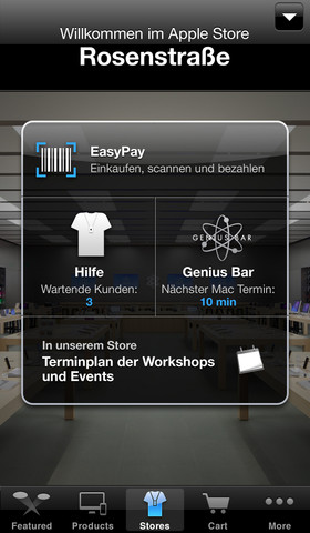 apple store app mit siri suchen und kaufen neue easypay. Black Bedroom Furniture Sets. Home Design Ideas