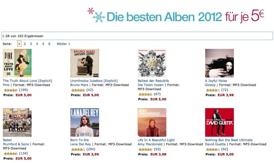 Amazon Musik 2012