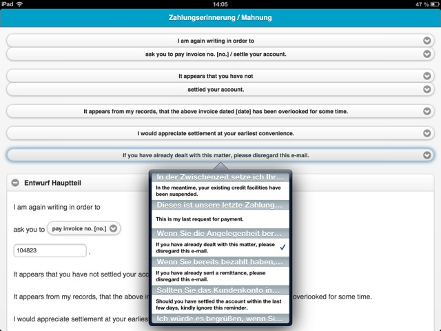 Emailwriter Aus Textbausteinen Schnell Englische Geschäftsbriefe