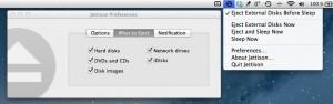 Systemeinstellungen des Mac-Helfers Jettison