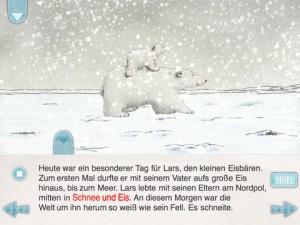 Eisbär Lars und sein Vater sind jetzt im App Store