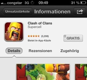 In App Hinweis