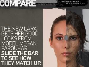 Lara Croft im Vergleich