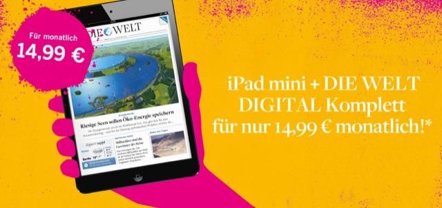 iPad Mini und DIE WELT