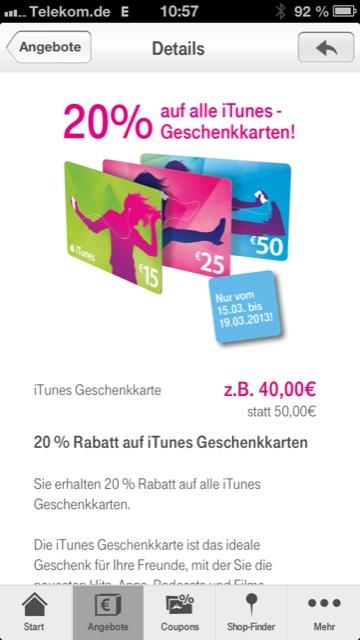 iTunes Telekom App