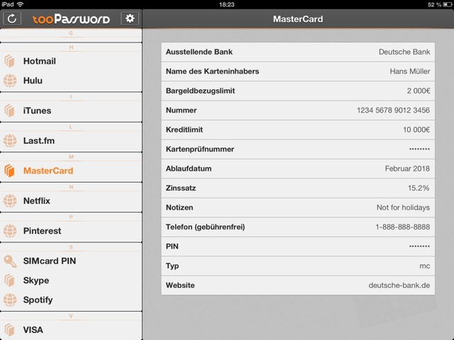 tooPassword für iPhone und iPad