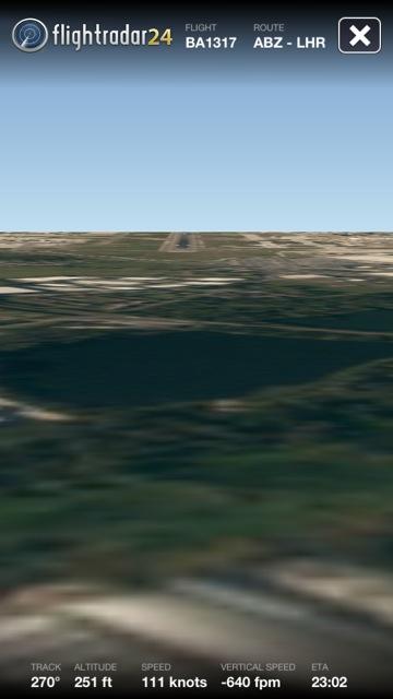 FlightRadar24 Pro - Cockpit View im Landeanflug