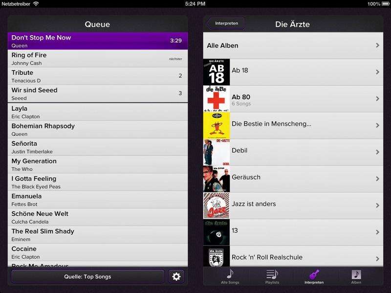 Musik-App für iPhone und iPad