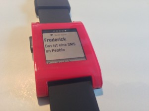 Pebble Smartwatch - mehrere SMS