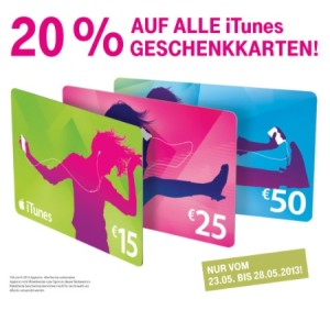Telekom iTunes Rabatt