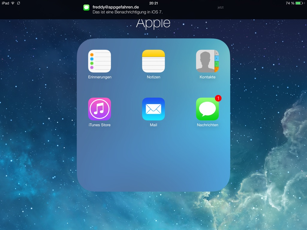 3 iOS 7 iPad - Ordner