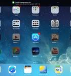8 iOS 7 iPad - Homescreen