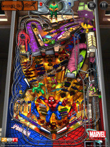 Spider-Man-Tisch in Marvel Pinball