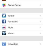 iOS 7 Dienste