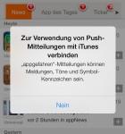 iOS 7 Push-Meldung