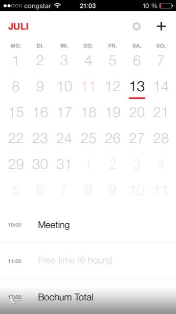 iphone neuer kalender