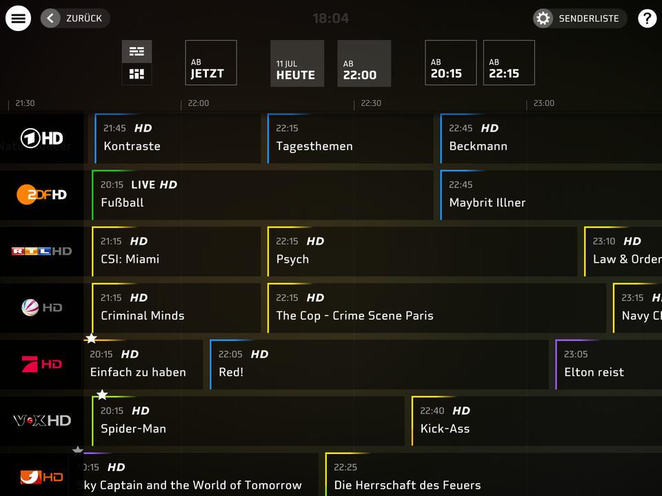 HD Plus TV-Programm
