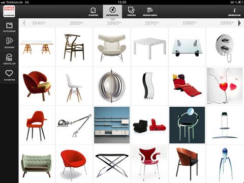 Schöner Wohnen 300 Designklassiker Aus Dem 20 Jahrhundert Als App