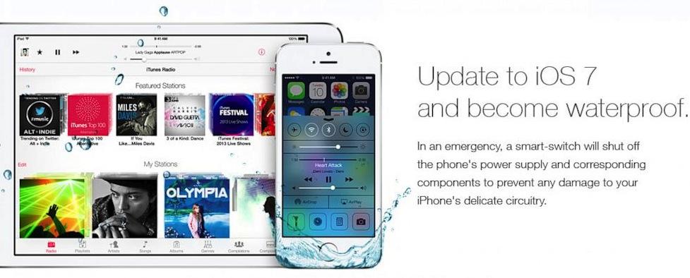 iOS 7 wasserdicht