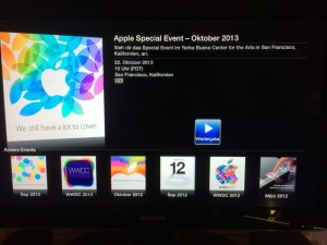 Aplpe TV Live Stream Keynote