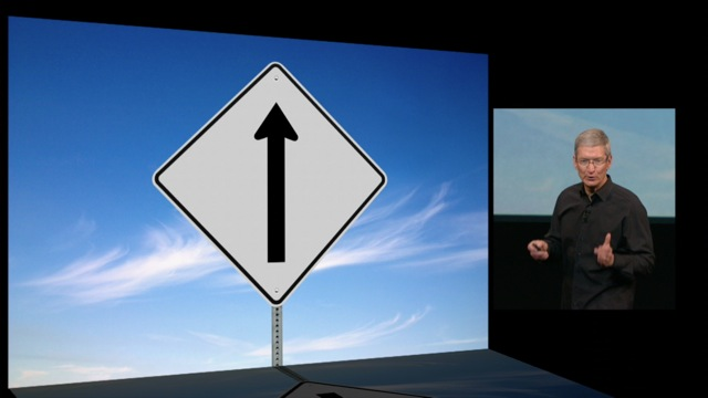 Apple Keynote Schild