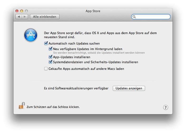 Mac App Store automatische Updates