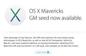 OS X Mavericks Golden Master