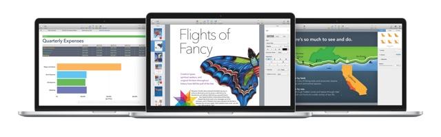 iWork für Mac beinhaltet Numbers, Pages und Keynote