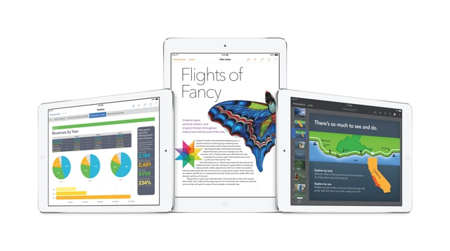 iWork for iOS mit Pages, Numbers und Keynote