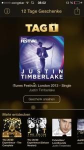 12 Tage Geschenke Justin Timberlake
