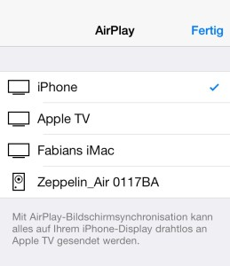 AirPlay iOS