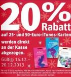 Rossmann iTunes Karten 20 Prozent