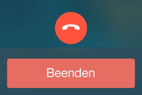 Anruf App iOS 7 Beta 3