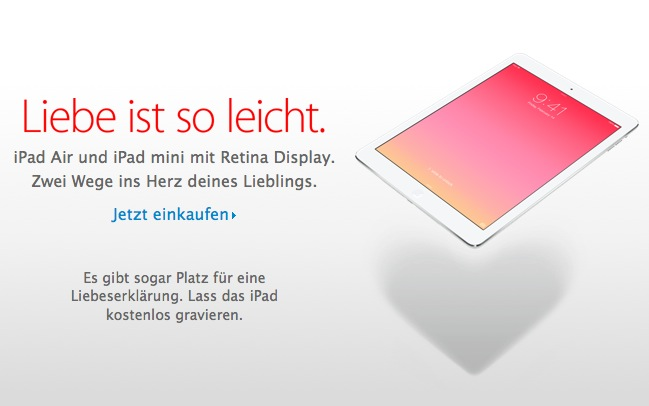 Apple Valentinstag