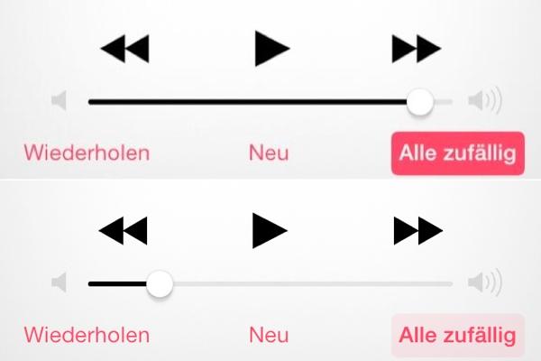 Musik-App iOS 7 Beta 3