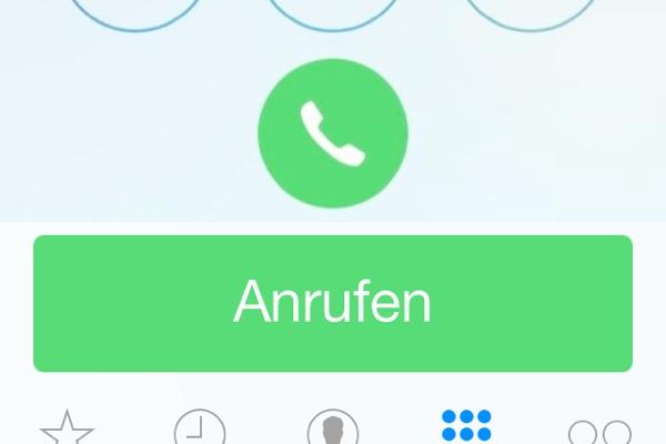 Telefon App iOS 7 Beta 3