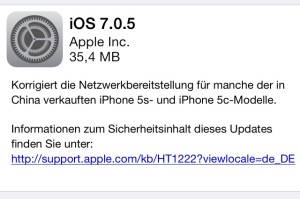 iOS 7.0.5 fur iPhone