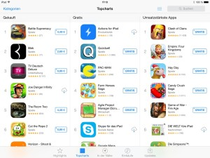 iPad App Store Charts