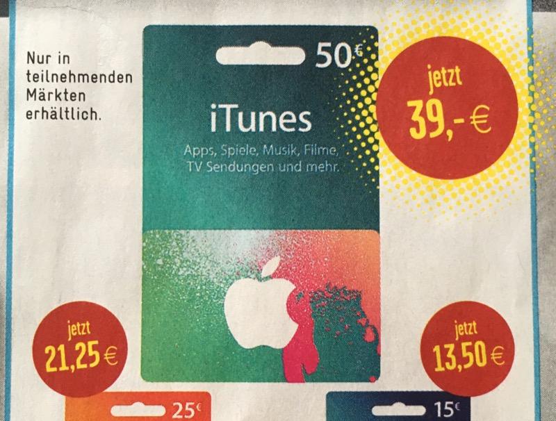 iTunes Edeka und Marktkauf