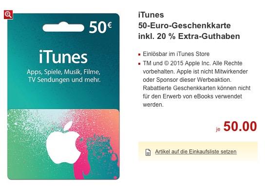 iTunes-Karte Kaufland