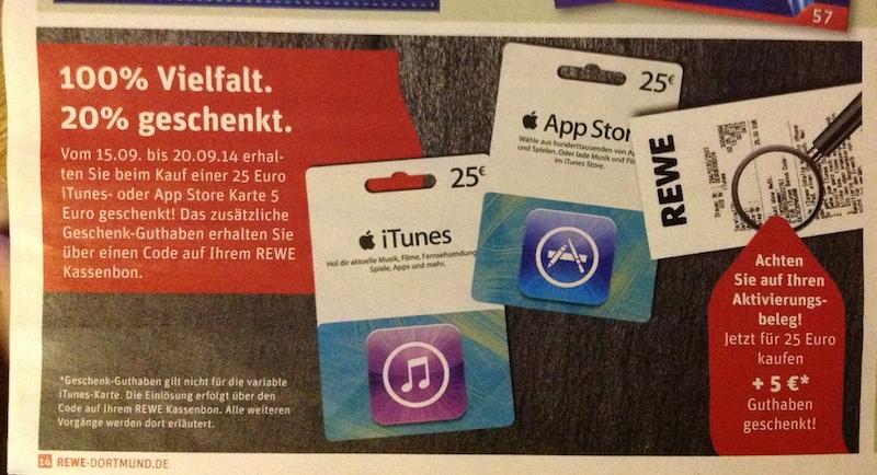 iTunes Rewe Bonus