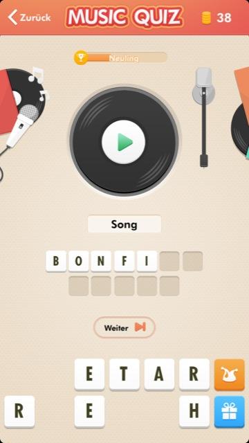Musik Erraten App