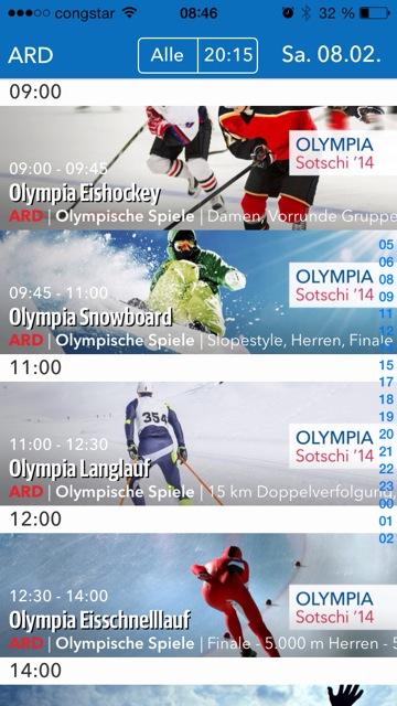 Olympia Tv Programm