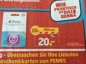 iTunes-Karte Penny