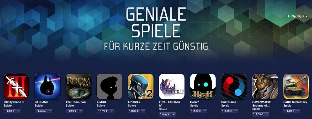 App Store geniale Spiele