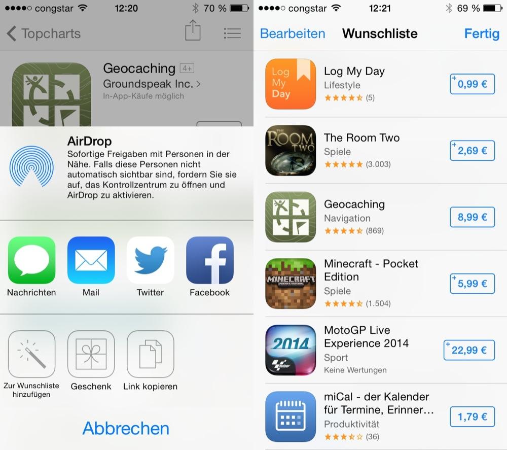 iOS Basics Wunschliste